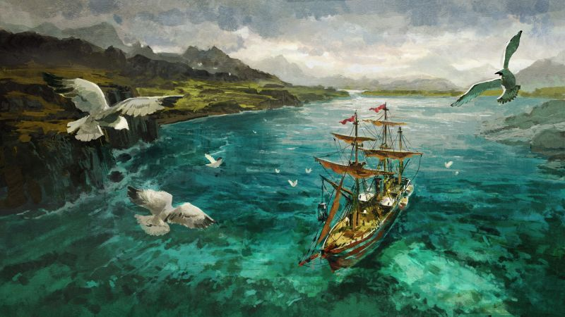 Anno 1800: Sunken Treasures, artwork, 5K (horizontal)