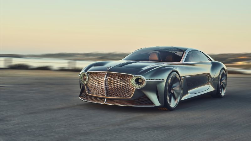 Bentley EXP 100 GT, luxury cars, 4K (horizontal)