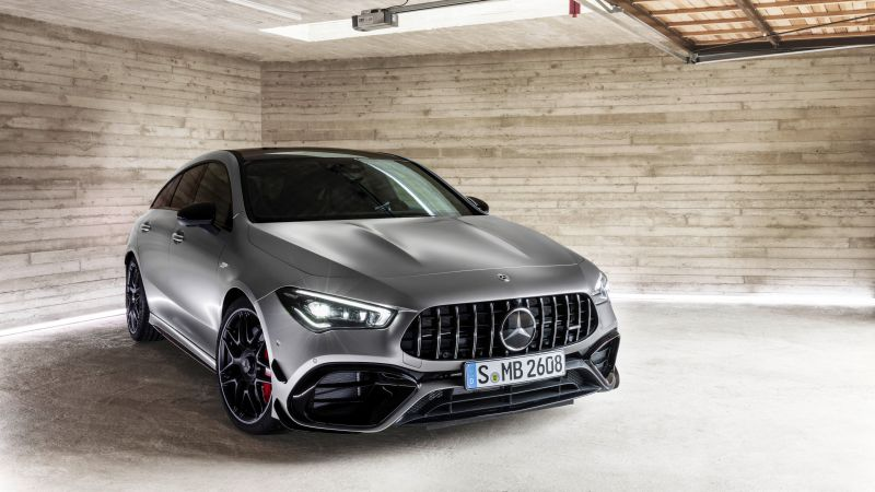 Mercedes-Benz CLA45 S AMG Shooting Brake, 2020 cars, 5K (horizontal)