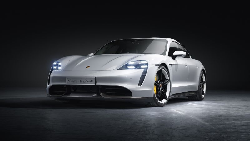 Porsche Taycan Turbo S, electric cars, 2019 cars, 5K (horizontal)