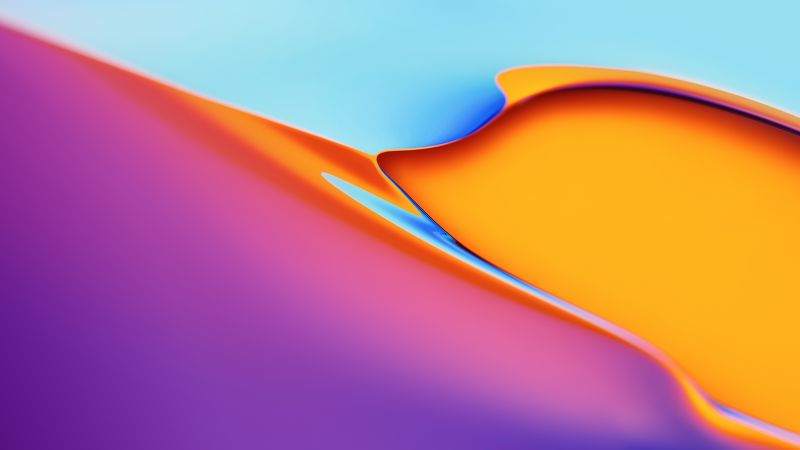 OnePlus TV, abstract, colorful, 4K (horizontal)