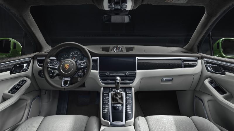 Porsche Macan Turbo, interior, 2019 cars, SUV, crossover, 5K (horizontal)