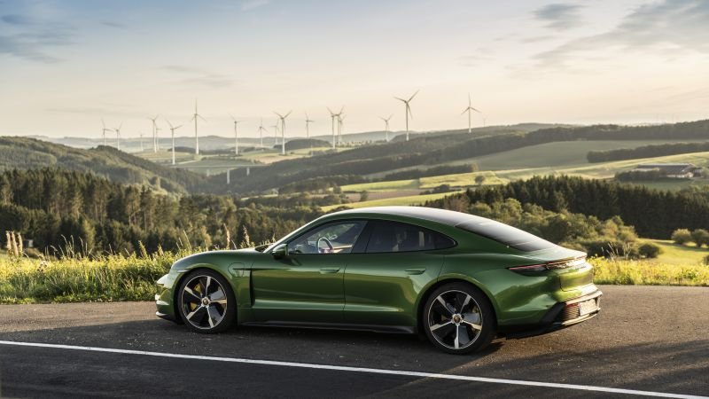 Porsche Taycan Turbo, electric cars, 2019 cars, 8K (horizontal)