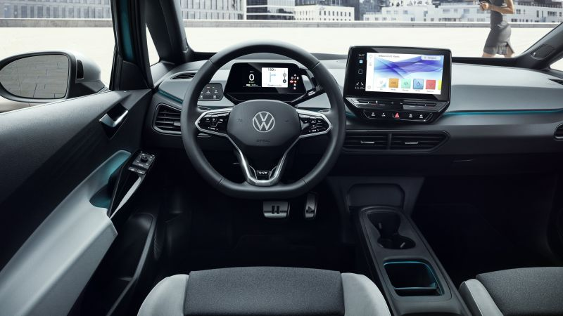 "Volkswagen ID.3 ""1st"", interior, electric cars, 2020 cars, 5K (horizontal)"
