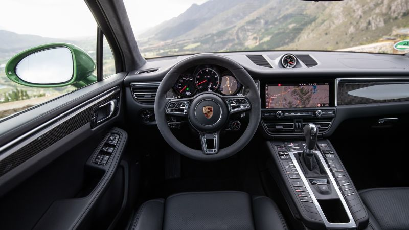 Porsche Macan Turbo, interior, 2020 cars, SUV, crossover, 5K (horizontal)