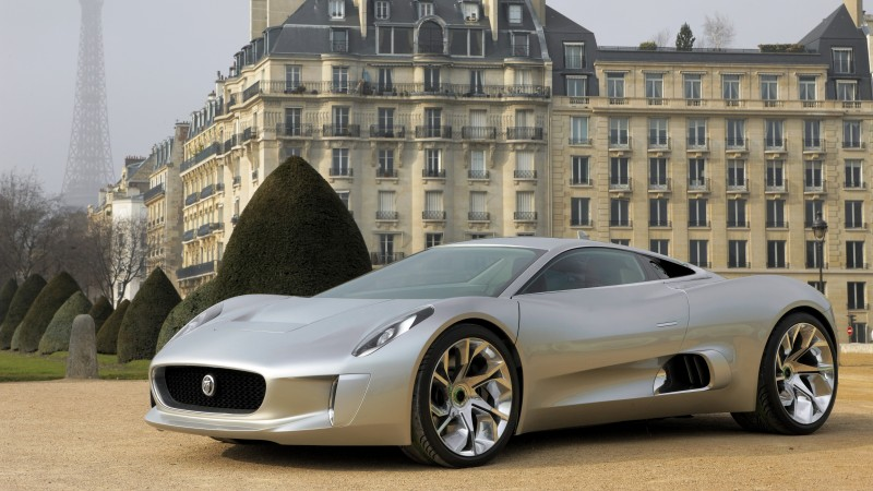 Jaguar C-X75, supercar, electric cars, concept, Jaguar, hybrid, sports car, mansion (horizontal)