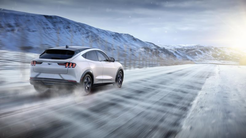 Ford Mustang Mach-E, SUV, 2021 cars, electric cars, crossover, 5K (horizontal)