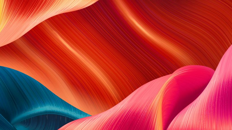 ColorOS 7, Android 10, abstract, 4K (horizontal)