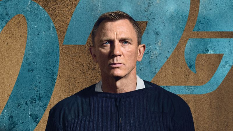 No Time to Die, Daniel Craig, 8K (horizontal)