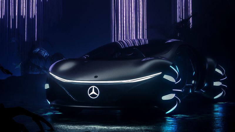 Mercedes-Benz VISION AVTR, CES 2020, electric cars, 4K (horizontal)
