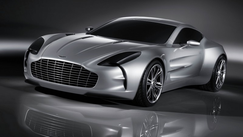 Aston Martin One-77, supercar, Aston Martin, limited edition, luxury cars, sports car, silver (horizontal)