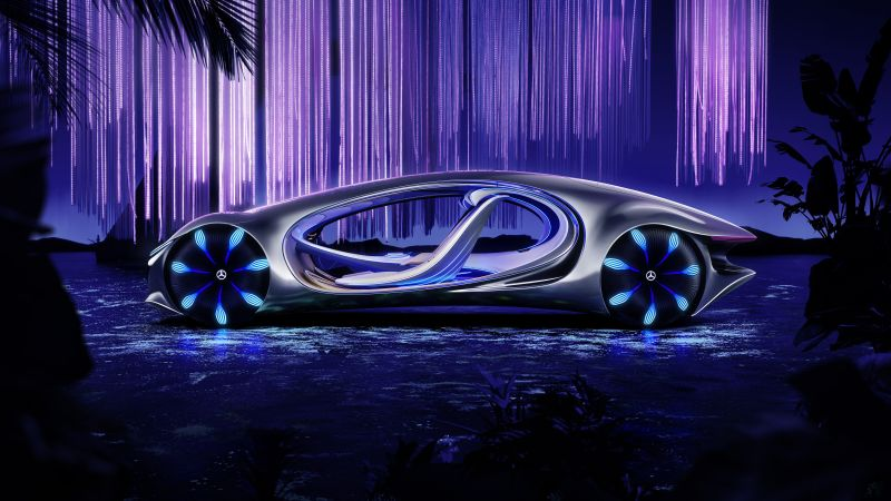 Mercedes-Benz VISION AVTR, CES 2020, electric cars, 8K (horizontal)