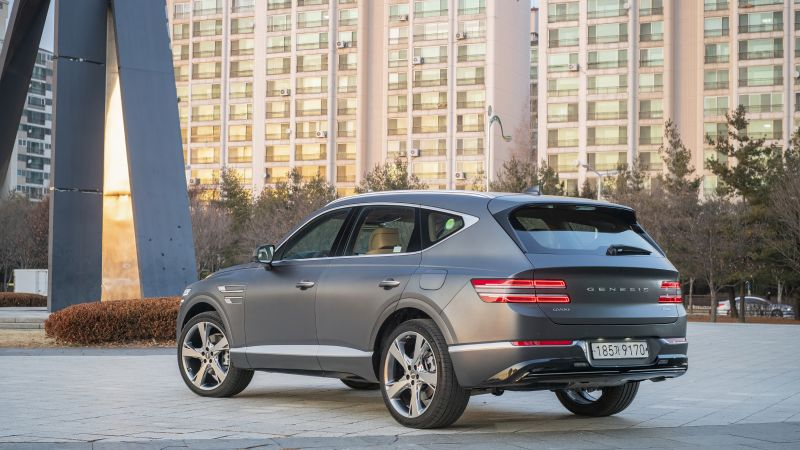 Genesis GV80, 2021 cars, SUV, luxury cars, 8K (horizontal)