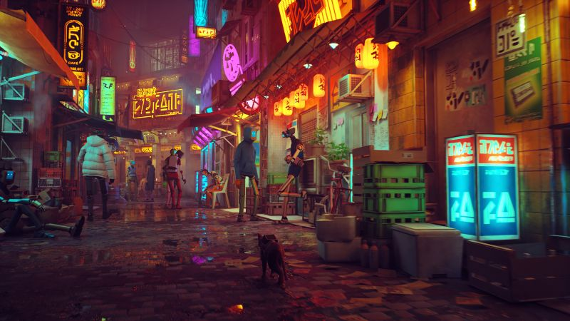 Stray, screenshot, gameplay, PlayStation 5, PS5, 8K (horizontal)