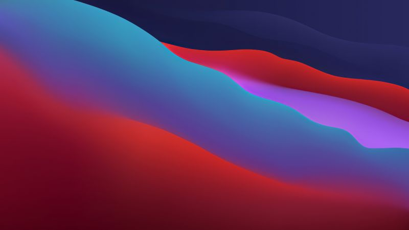 macOS Big Sur, dark, WWDC 2020 (horizontal)