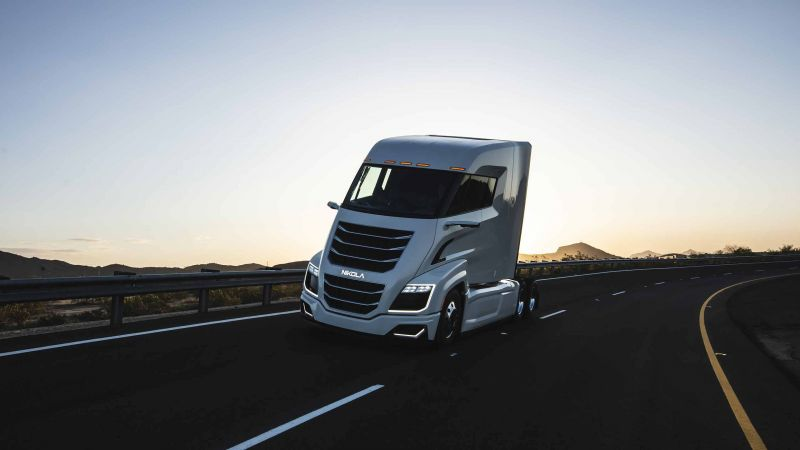 Nikola Two, electric cars, hydrogen fuel cell (horizontal)