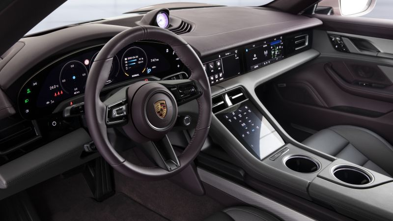 Porsche Taycan, 2020 cars, electric cars, 4K (horizontal)
