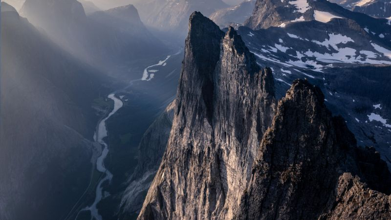 Troll Wall, Romsdal, Norway, mountains, 4K (horizontal)