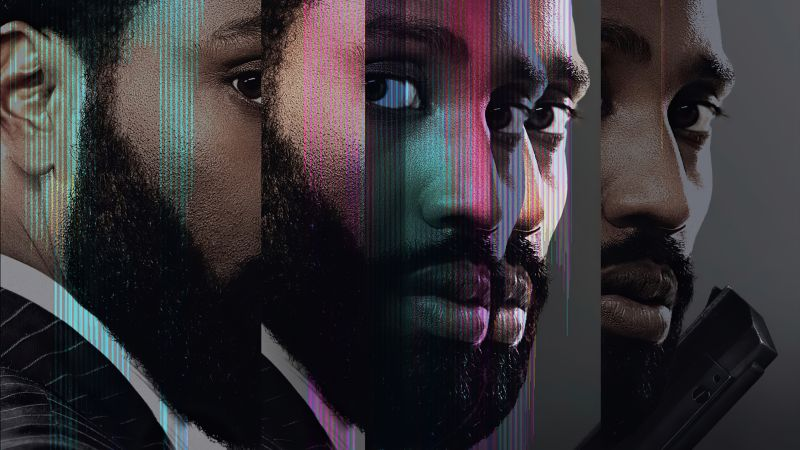 Tenet, John David Washington, poster, 5K (horizontal)