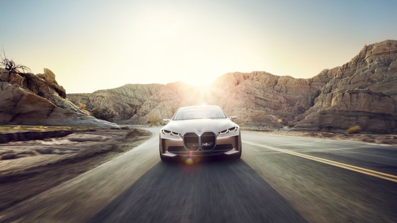 BMW i4, 2021 cars, electric cars, 4K (horizontal)