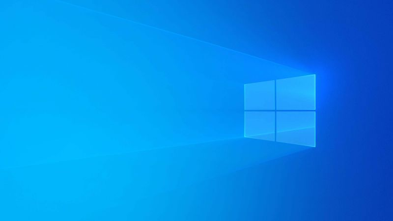 Windows 10, Microsoft, blue, 4K (horizontal)