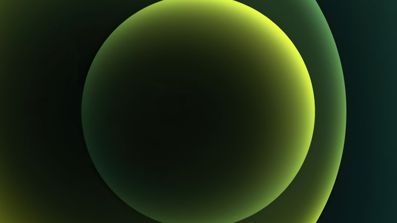 iPhone 12, green, abstract, Apple October 2020 Event, 4K (horizontal)