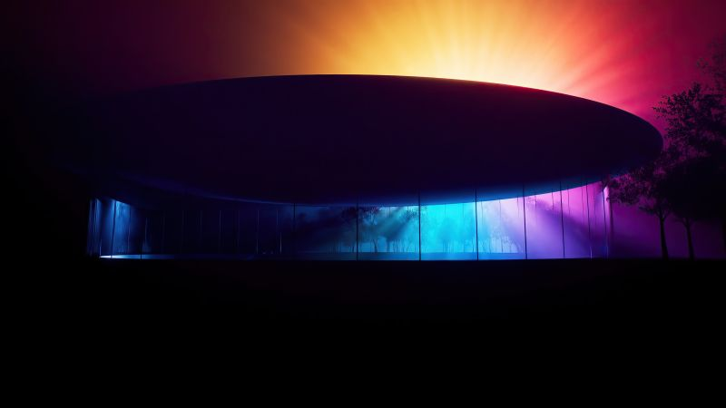Steve Jobs Theater, abstract, Apple November 2020 Event, 4K (horizontal)