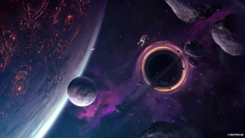 astronaut, space, 4K (horizontal)