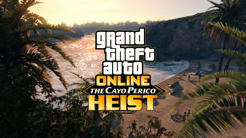 GTA Online The Cayo Perico Heist, GTA Online, poster, 4K (horizontal)