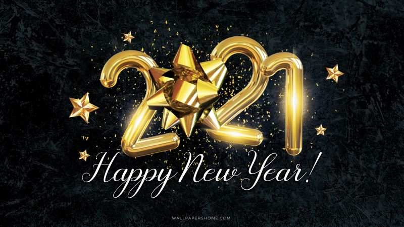 New Year 2021, Christmas, poster, 8k (horizontal)