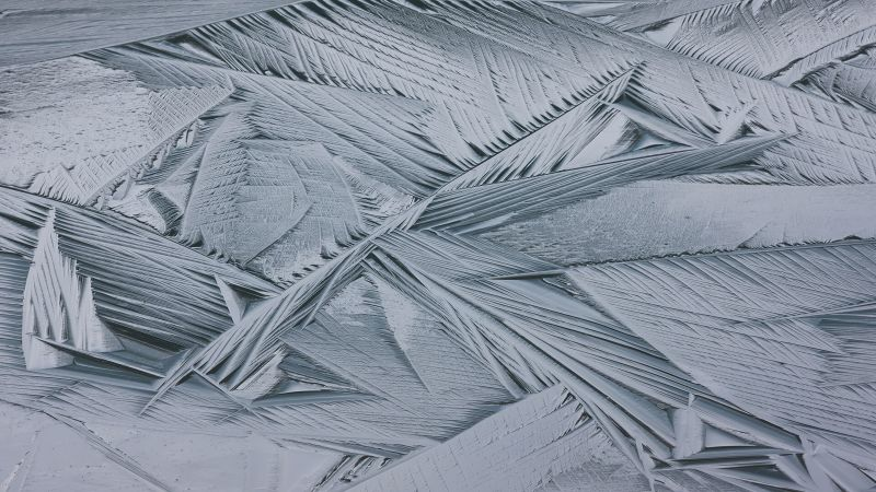 ice, white, winter, abstract, 4K (horizontal)