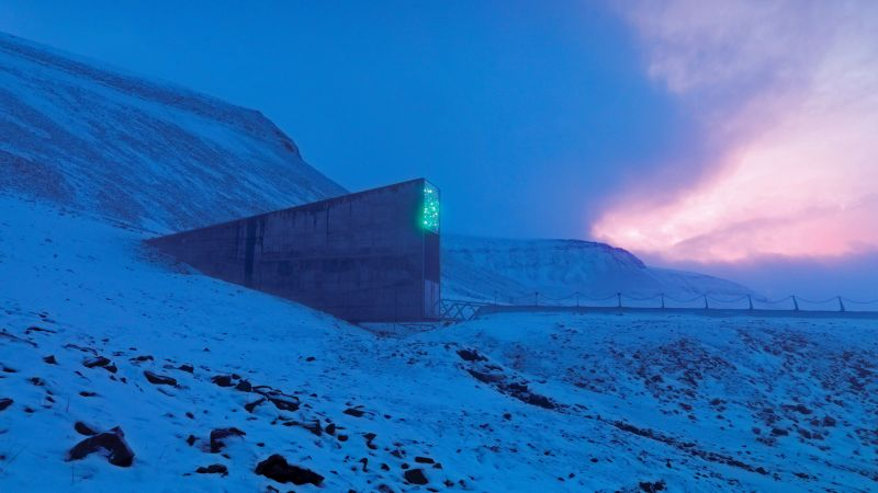 Svalbard Global Seed Vault, Svalbard, Norway, 5K (horizontal)