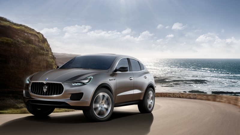 Maserati Kubang, Levante, luxury cars, crossover, Maserati, SUV, concept, review, test drive, 2015 Detroit Auto Show. NAIAS (horizontal)