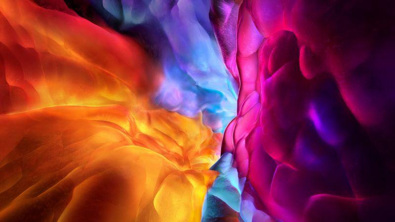 iPadOS 15, iPad Pro, abstract, 4K (horizontal)
