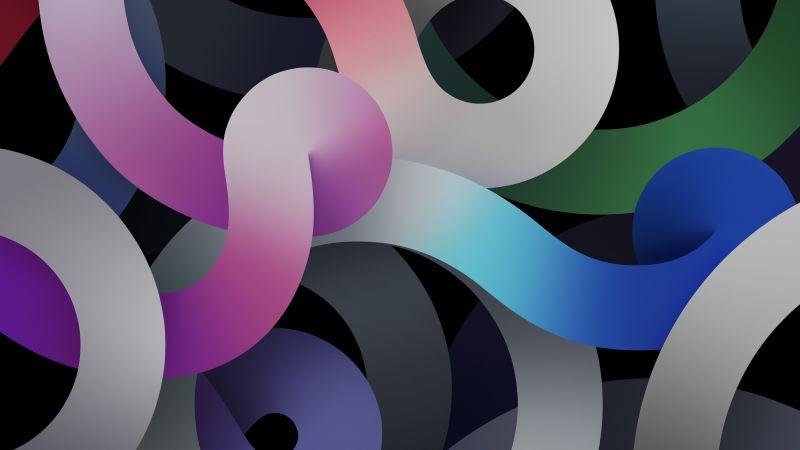 iPad Air 2020, dark, abstract (horizontal)