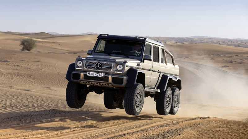 Mercedes-Benz G 63 AMG 6x6, SUV, Mercedes, Brabus G 63 700, G-Class, off-road, luxury cars, test drive, speed, desert (horizontal)