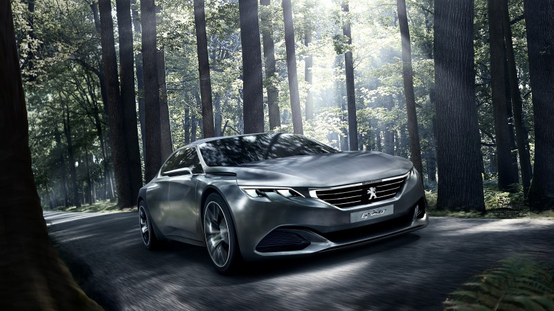 Peugeot Exalt, 5k, 4k wallpaper, electric cars, concept, Peugeot, review, test drive, forest (horizontal)