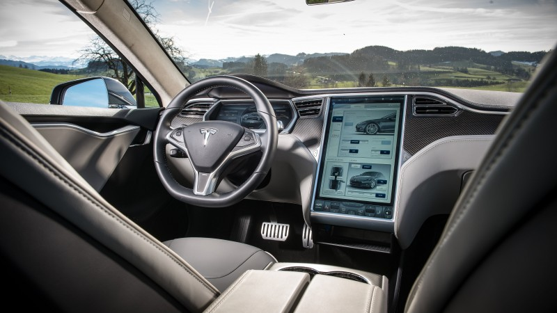 Tesla Model S, electric cars, Tesla Motors, speed, road, review, interior, test drive (horizontal)