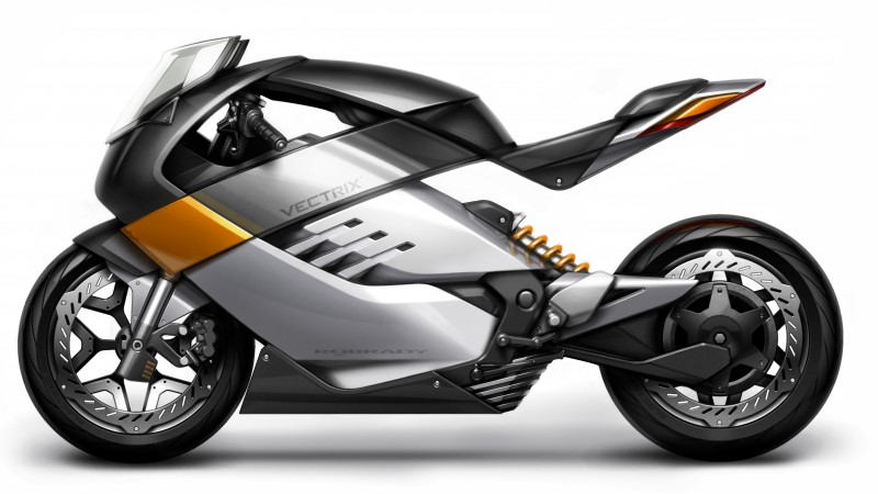 Vectrix, concept, electric motorcycle, superbike, ecosafe, review, side, test drive (horizontal)