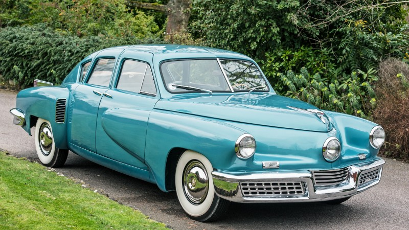 Tucker 48, classic cars, Preston Tucker, retro, blue, front, buy, rent (horizontal)