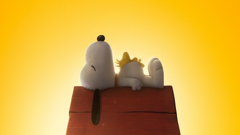 The Peanuts Movie, cartoon, film, movie, dog, puppy, yellow, sleep, Bill Melendez, Snoopy, Noah Schnapp, Charlie Brown, Best Animation Movies of 2015 (horizontal)