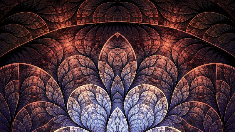 pattern, 4k, 5k wallpaper, leaf, brown, background (horizontal)