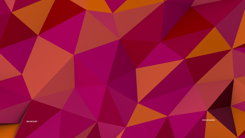polygon, 4k, 5k wallpaper, 8k, pink, orange, background, pattern (horizontal)