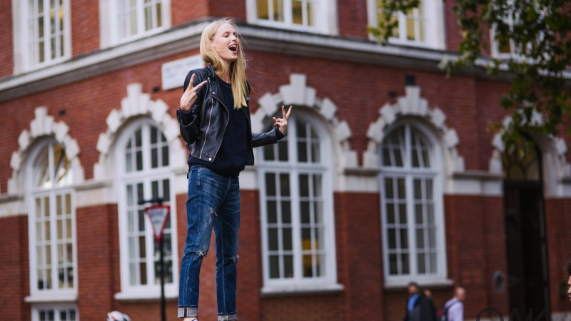 Lina Berg, model, spring 2015 top models, street, blonde, jeabs, funny (horizontal)