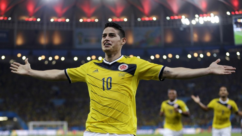 Football, James Rodríguez, soccer, The best players 2015, FIFA World Cup, Real Madrid, James David Rodríguez Rubio (horizontal)
