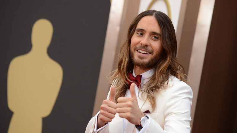 Jared Leto, Most Popular Celebs in 2015, oscar, 86th Academy Awards, actor, singer, songwriter, director (horizontal)