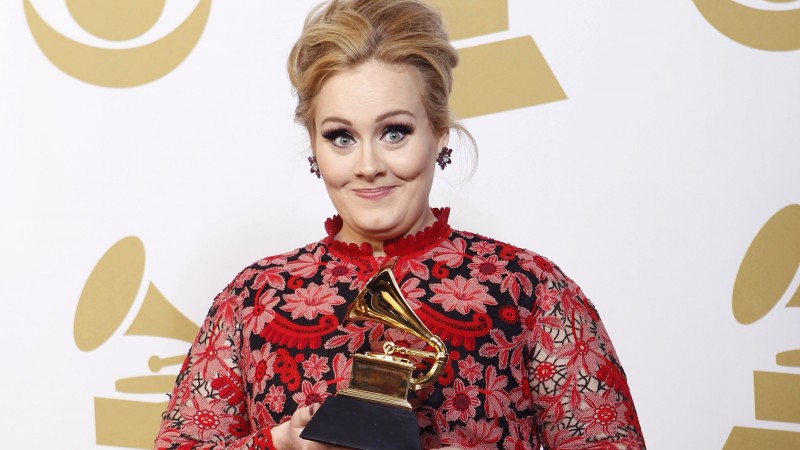 Adele, Most Popular Celebs in 2015, Grammys 2015 Best Celebrity, singer, songwriter (horizontal)