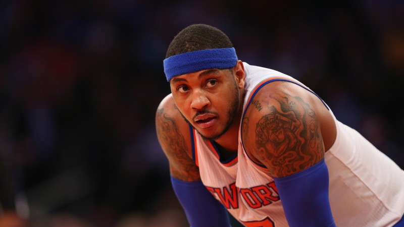 NBA, Carmelo Anthony, Best Basketball Players of 2015, basketball player, forward, New York Knicks (horizontal)