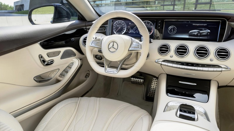 Mercedes-Benz S 65 AMG, luxury cars, sports car, interior, test drive, review, white (horizontal)