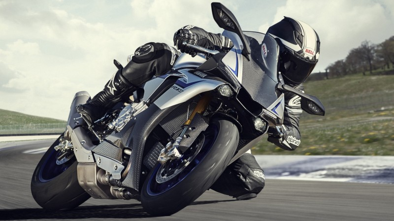 Yamaha YZF-R1, motorcycle, racing, sport, bike (horizontal)